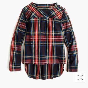J. Crew  funnelneck shirt W jeweled buttons 2P